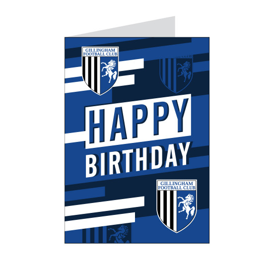 Shadow Badge Birthday Card
