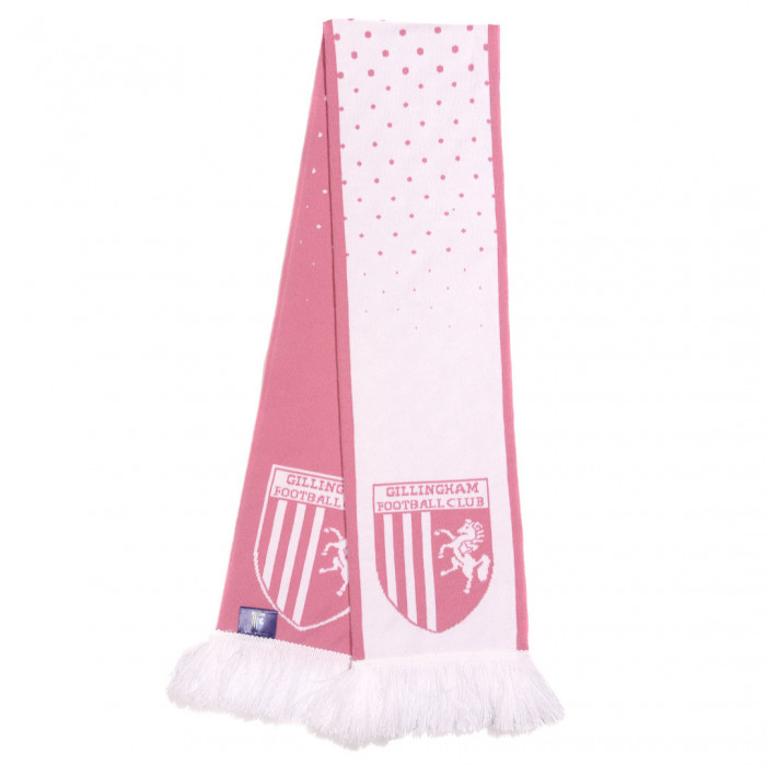 Ladies Pink Spotted Scarf